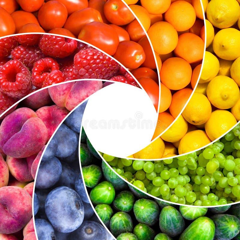 Fruitachtergronden royalty-vrije stock foto's