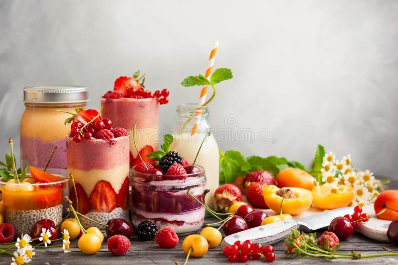 Fruitbes smoothie stock fotografie