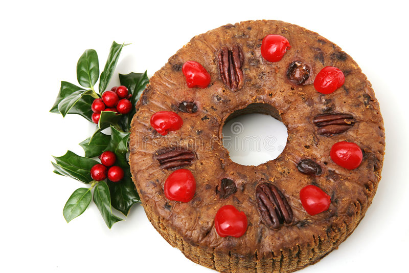 Fruitcake bonito do Natal fotos de stock royalty free