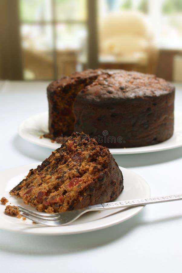 Fruitcake casalingo fotografie stock