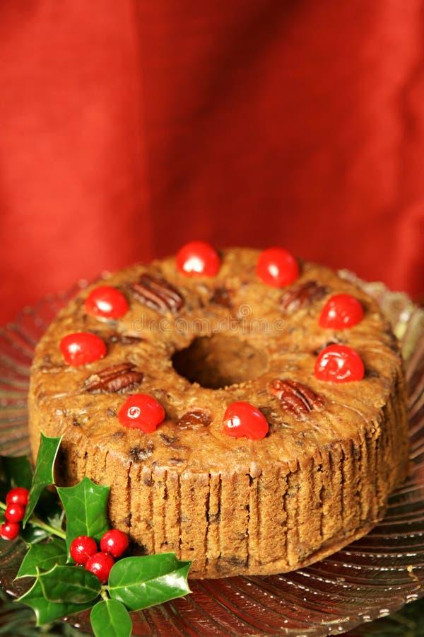 Fruitcake de lujo del día de fiesta imagen de archivo