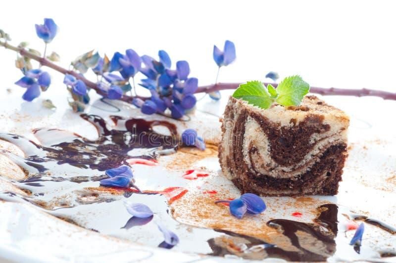 Fruitcake de mármore imagens de stock royalty free