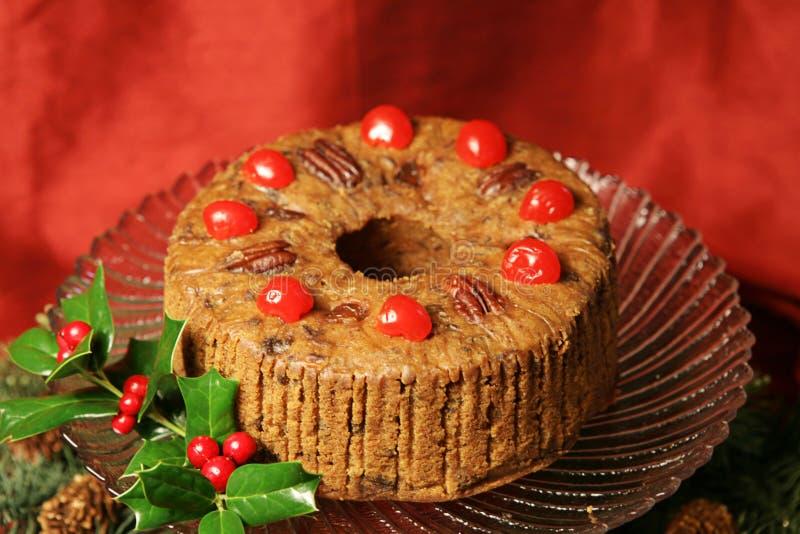 Fruitcake delicioso del día de fiesta fotografía de archivo libre de regalías