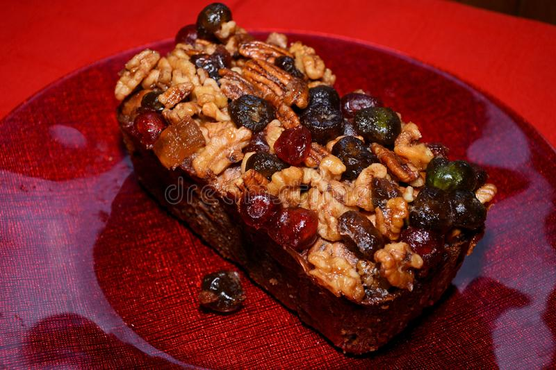 Fruitcake photo stock