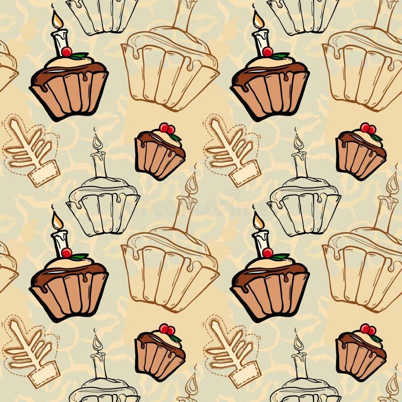 Fruitcakes festivi di natale royalty illustrazione gratis