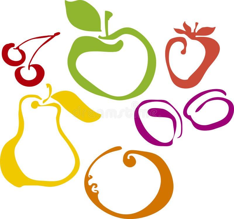 Download Fruite set stock vector. Image of food, tangerine, simple - 22945869