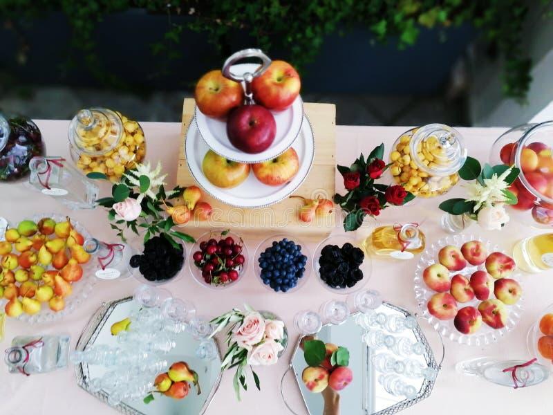 Fruite table appple glass bar colour colours summer spring decoration decor. Fruite table appple glass bar colour colours summer spring decoration stock images