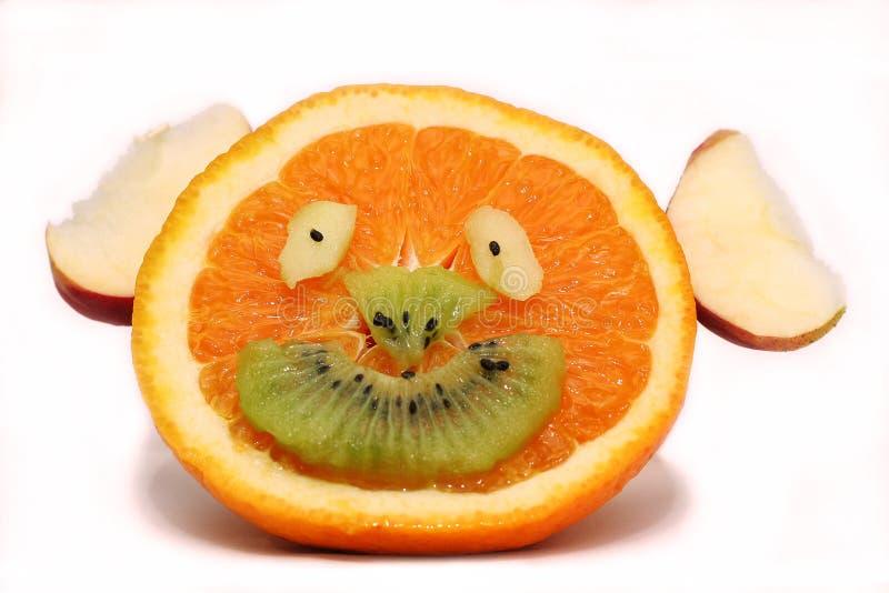Fruitig gelukkig gezicht royalty-vrije stock foto's
