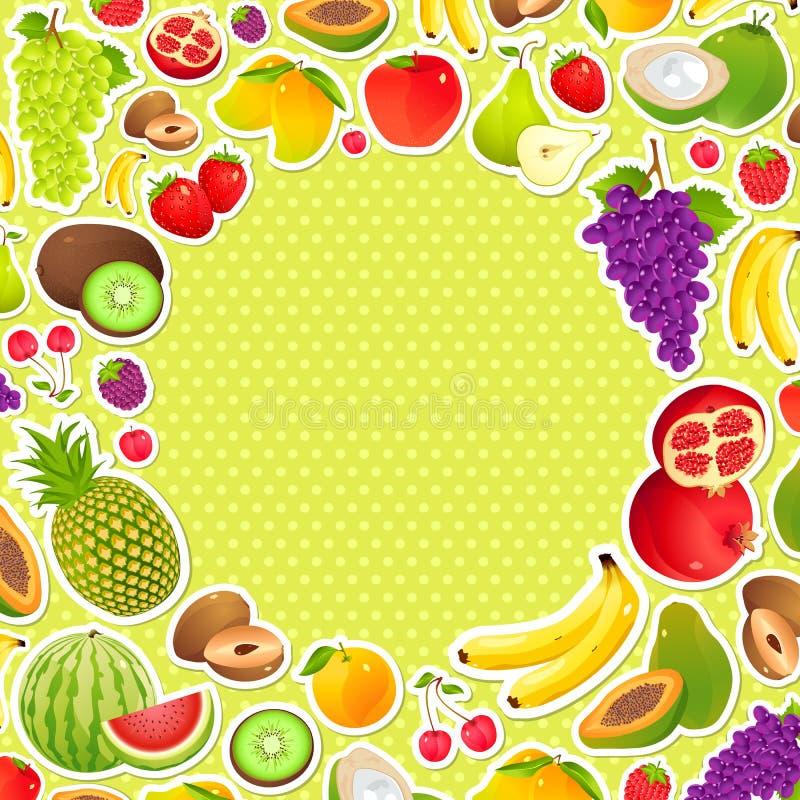 Fruitige Achtergrond vector illustratie