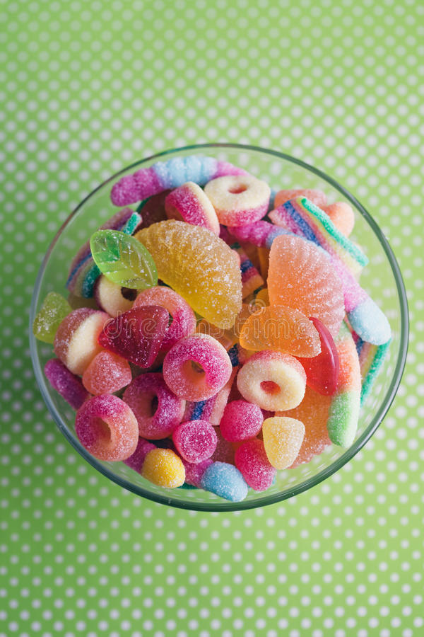 Fruitige geleisnoepjes stock fotografie