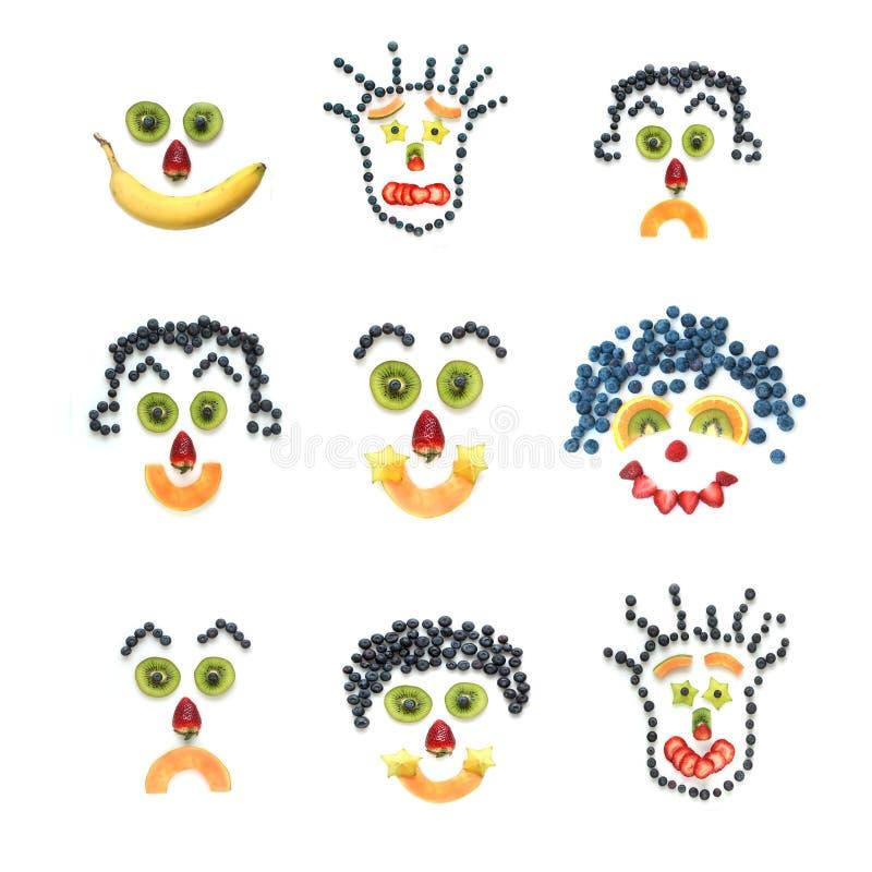 Fruitige gezichten vector illustratie