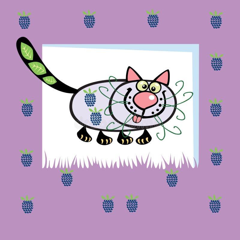 Fruitige kat stock illustratie