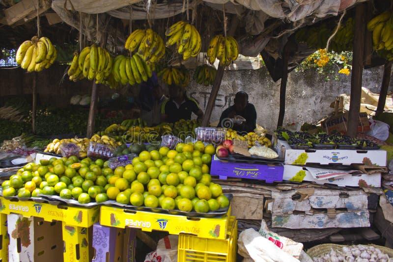 Fruitmarkt in Kenia royalty-vrije stock afbeelding