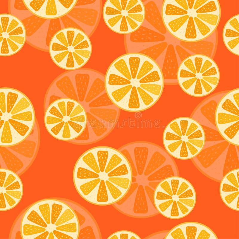 Fruitpatroon met rijpe oranje citrusvrucht stock afbeelding