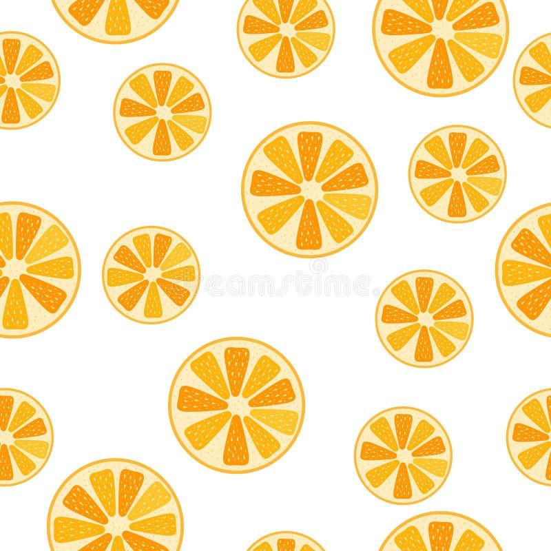 Fruitpatroon met rijpe oranje citrusvrucht royalty-vrije stock foto's
