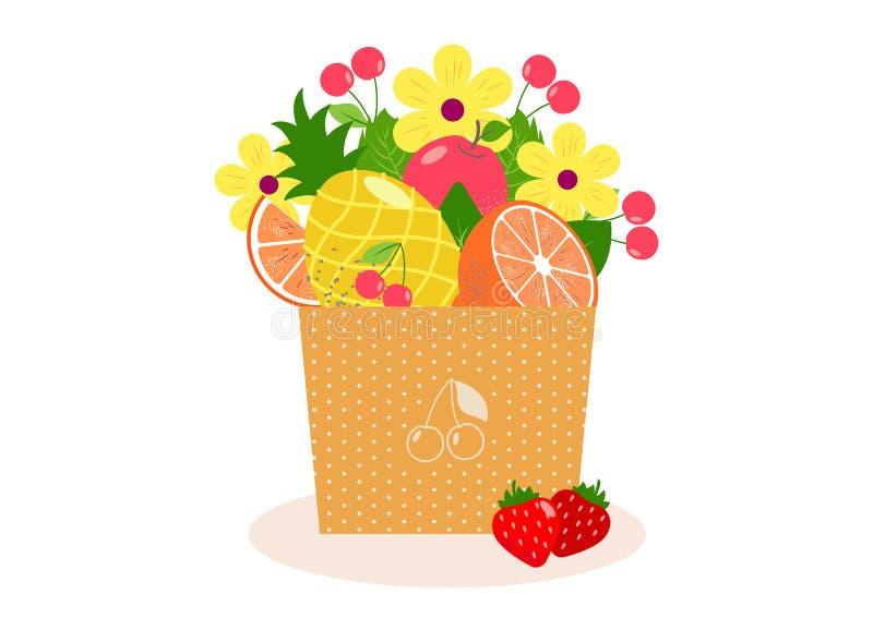 Fruitr e ramalhete das bagas ilustração stock