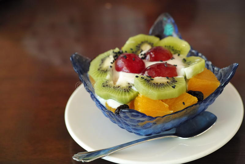 Fruitroomijs royalty-vrije stock foto's