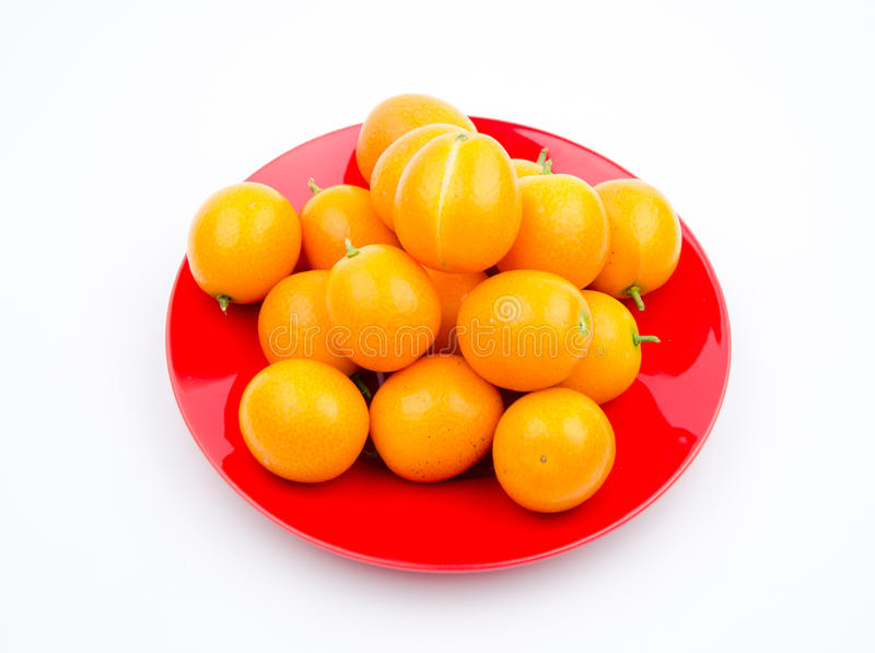Fruits:The little orange stock photos