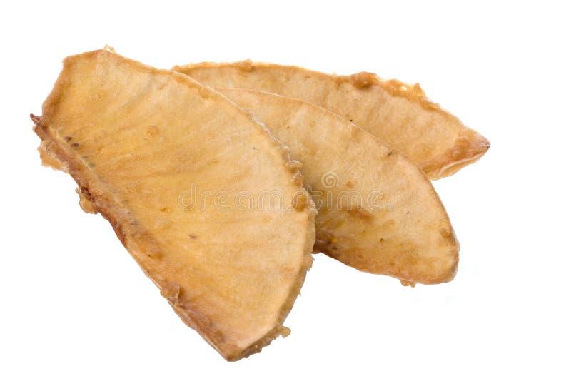 fruits à pain frites d'isolement images stock
