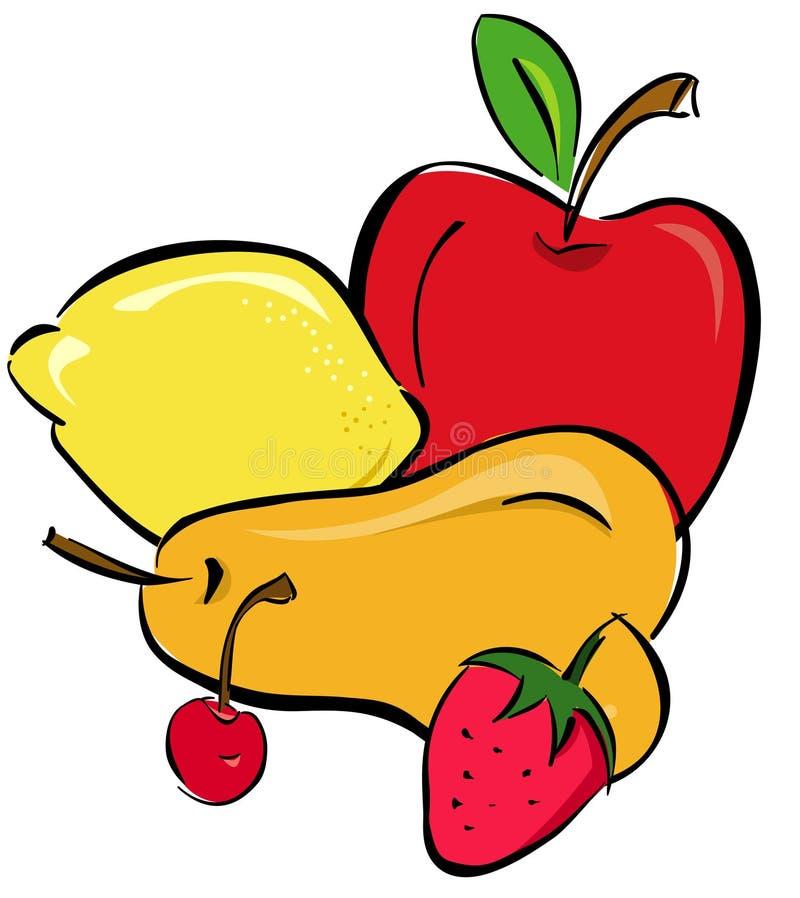 fruits выбор иллюстрация штока