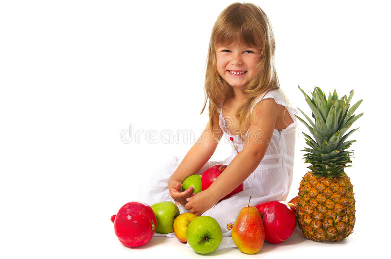 fruits девушка немногая стоковое фото