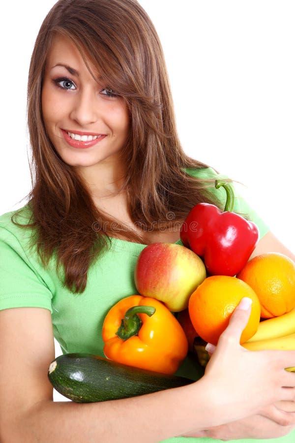 fruits усмехаться детеныши женщины стоковое фото rf