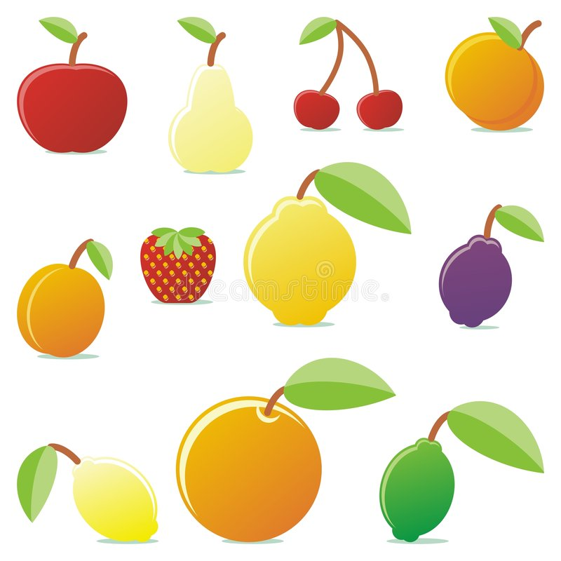 Download Fruits 02 stock vector. Illustration of fabrics, decoration - 7173121