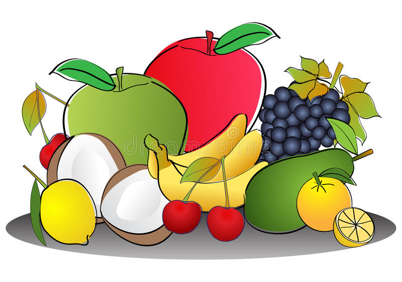 Fruits illustration de vecteur