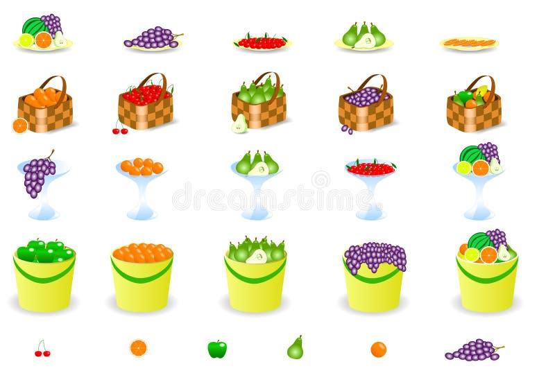 Download Fruits stock illustration. Image of fresh, cherry, basket - 9092072