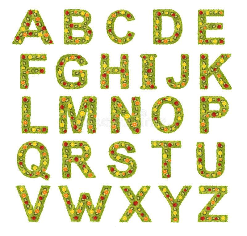 Fruits alphabet stock photo