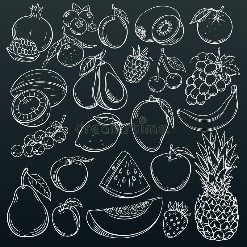 Free Fruits And Berries Icons Royalty Free Stock Photos - 109813268