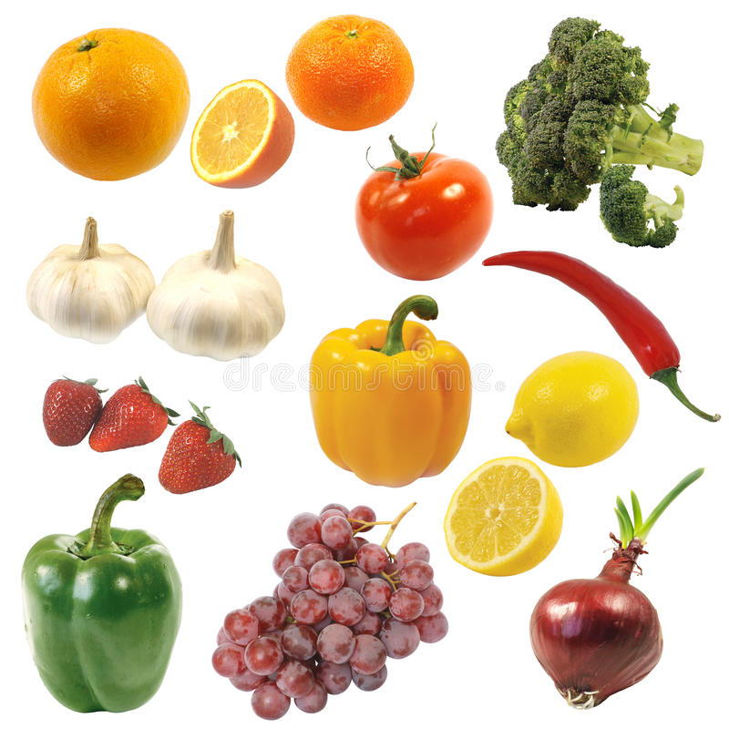 Free Fruits And Vegetables Stock Images - 19259234