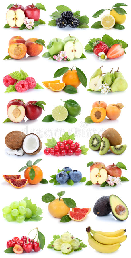 Free Fruits Apple Orange Apples Oranges Banana Grapes Fresh Fruit Strawberry Pear Collection Isolated Stock Photo - 89498600