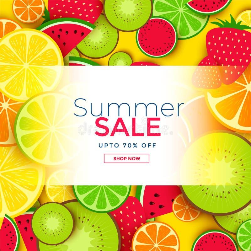 Fruits background for summer sale royalty free illustration