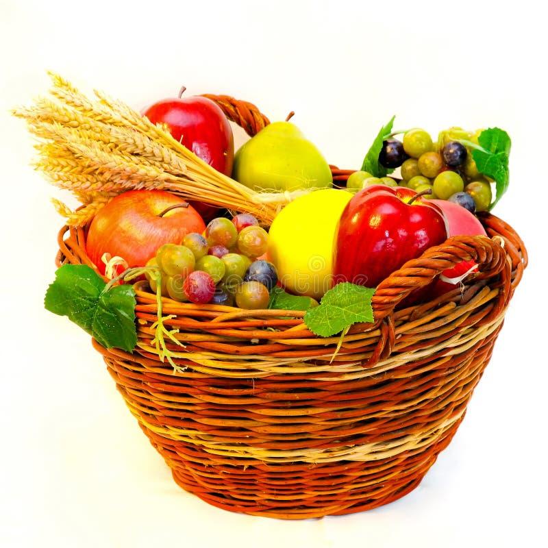 Fruits basket stock photography