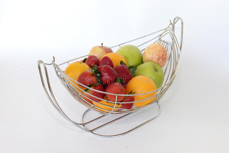 Fruits in the basket royalty free stock images