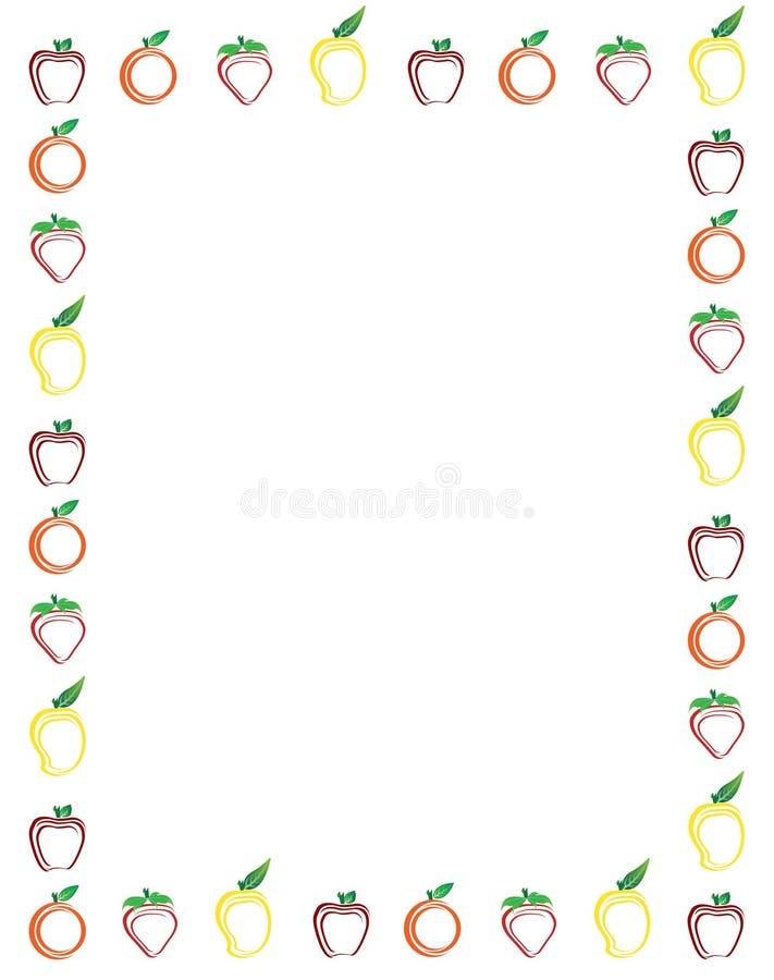 Fruits Border vector illustration