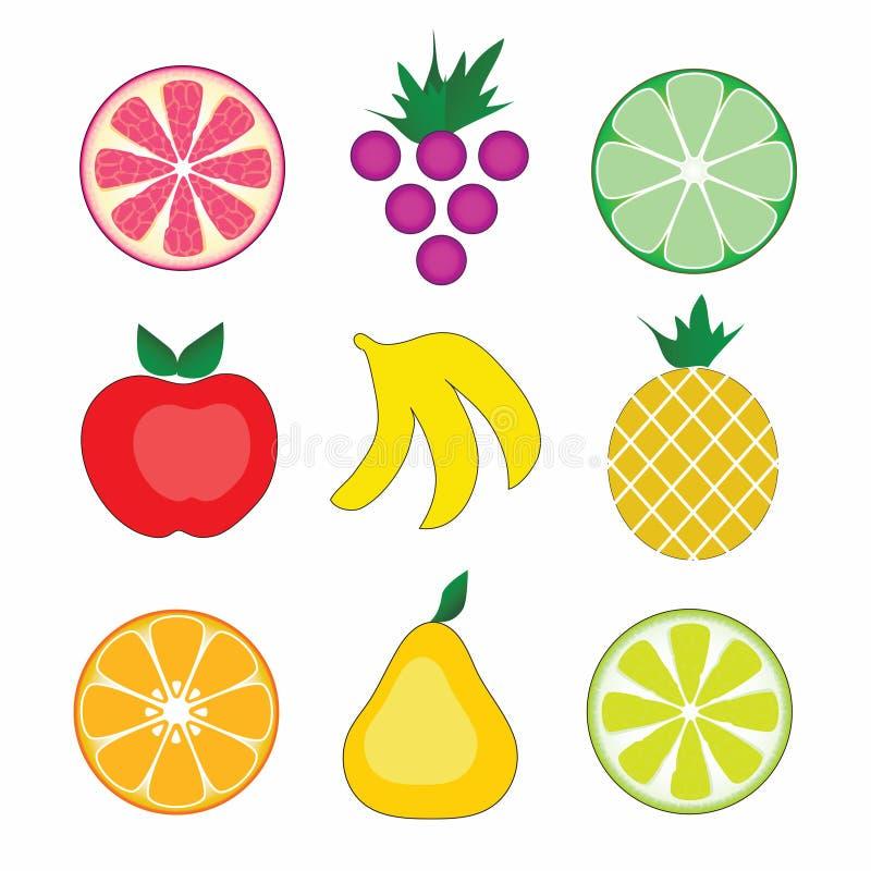 Fruits colorés de vecteur illustration libre de droits