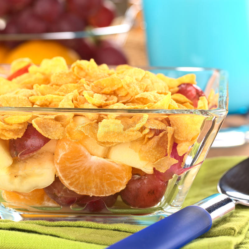 Download Fruits and Corn Flakes stock photo. Image of breakfast - 24597686