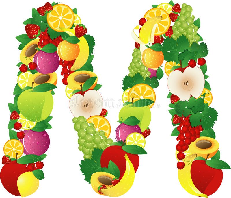 Fruits d'Alphabatical illustration stock