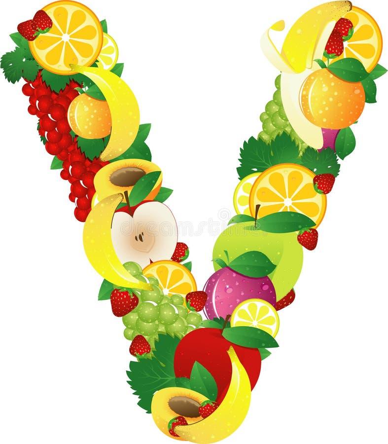 Fruits d'Alphabatical illustration de vecteur
