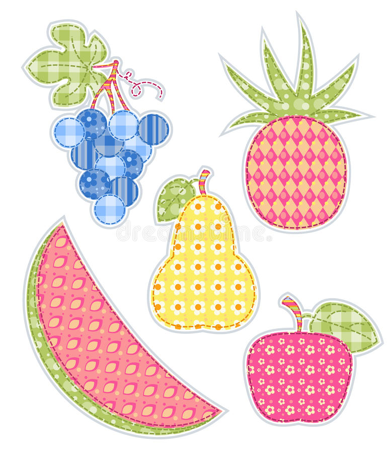 Fruits d'application réglés. illustration libre de droits