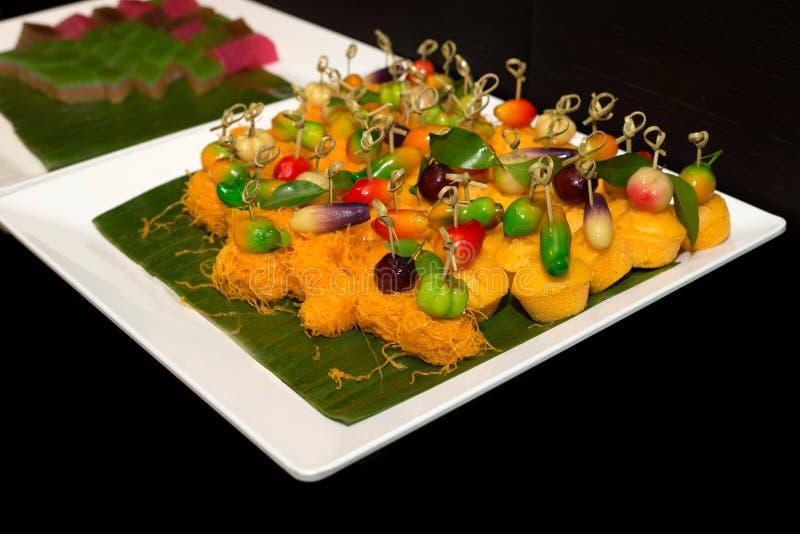 Fruits d'imitation supprimables, dessert thaïlandais photos libres de droits