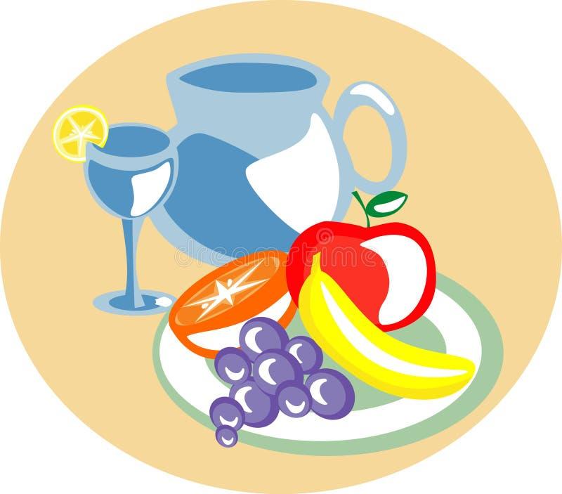Fruits dans un plateau illustration libre de droits