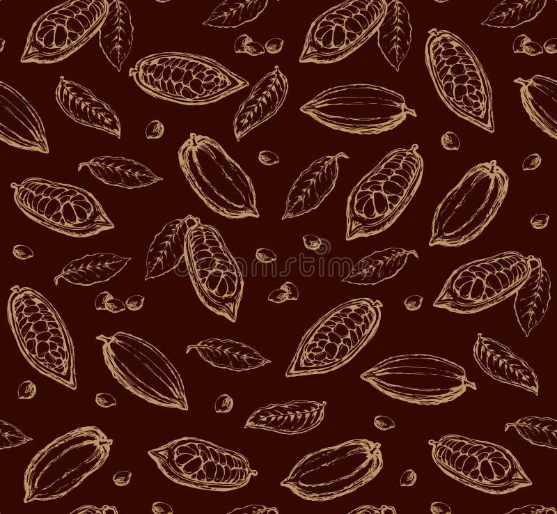 Fruits de cacao Retrait de vecteur illustration libre de droits