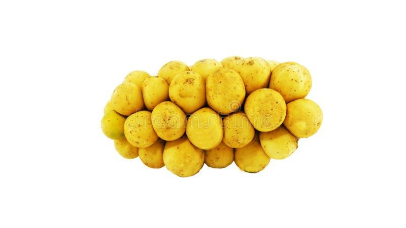 Fruits de Longkong sur le fond d'isolat photographie stock