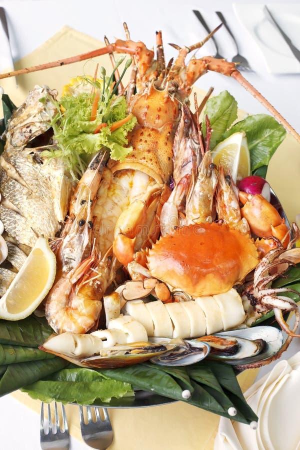 Fruits de mer avec la langoustine photo stock