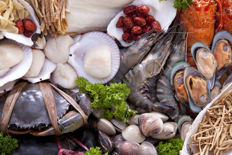 Fruits de mer crus frais image libre de droits