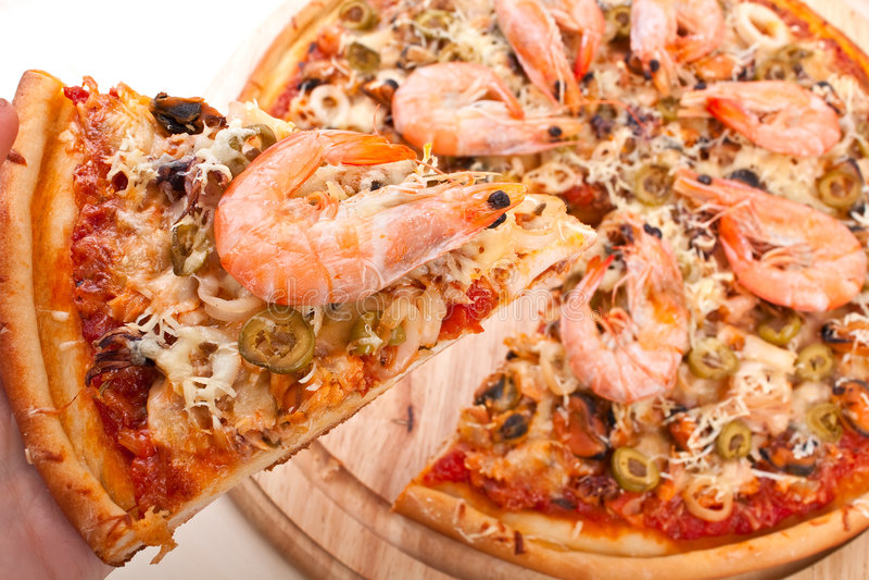 fruits de mer de pizza images stock image 8275154. Black Bedroom Furniture Sets. Home Design Ideas
