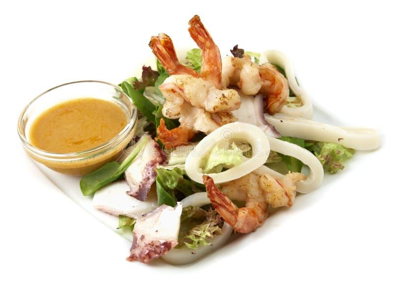 Fruits de mer de salade photographie stock libre de droits
